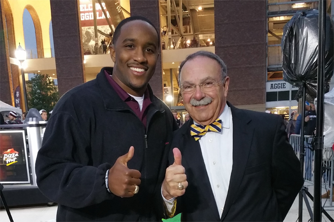 Jordan with former Texas A&M President and current Chancellor of the university of Missouri Bowin Loftin