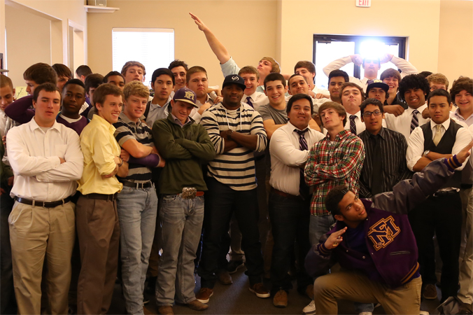 Jordan with the Marble Falls Football Team