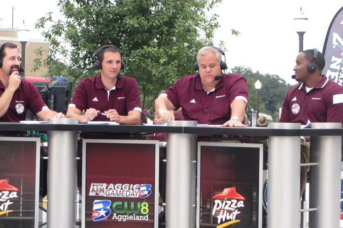 Jordan talking about Texas A&M football game on the award winning Pre-game show Aggie Game Day!